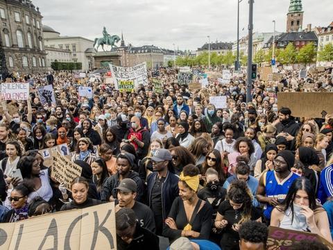 Over 15.000 mennesker var samlet til demonstration i København den 7. juni. (Arkivfoto)
